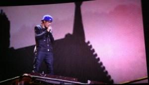 biebs onstage