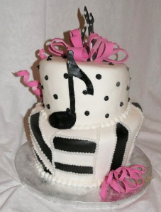 music note bday cake